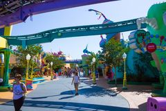Orlando, Florida, USA - May 10, 2018: The children attraction at Adventure Island of Universal Studios Orlando. Universal Studios Orlando is a theme park royalty free stock photo