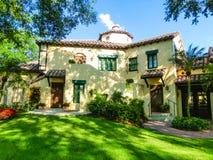 Orlando, Florida, USA - May 10, 2018: The italian manor house at park Universal Studios. Orlando is a theme park resort royalty free stock images
