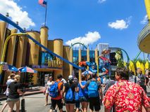 Orlando, Florida, USA - May 09, 2018: Marvel Super Hero Island. Islands of Adventure. Universal. Orlando, Florida, USA - May 09, 2018: The people going to stock photography