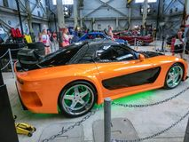 Orlando, Florida, USA - May 10, 2018: The The New Fast Furious Attraction at Universal Orlando Is the Car Lover`s Ride. Orlando, Florida, USA - May 10, 2018: The stock photos
