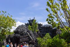 Orlando, Florida, USA - May 09, 2018: Universal. Islands of Adventure. King of Kong. Ride. Orlando, Florida, USA - May 09, 2018: The people going at Universal Royalty Free Stock Images