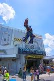 ORLANDO, FLORIDA, USA - MAY 08, 2018: Universal Studios. Entrance of Transformers 3D ride. ORLANDO, FLORIDA, USA - MAY 08, 2018: Universal Studios Entrance of Stock Images
