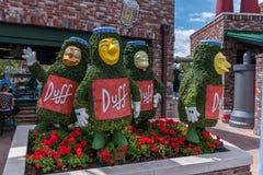 ORLANDO FLORYDA, MAJ, - 06, 2015: Simpsons przyciągania w Ogólnoludzkim Orlando, Floryda Fotografia Royalty Free