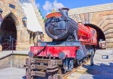 Orlando, Floryda, usa - Maj 09, 2018: Hogwarts Ekspresowy przy Wizarding światem Harry Poter Zdjęcia Stock
