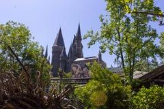 Orlando, Floryda, usa - Maj 09, 2018: Hogwarts kasztel przy Wizarding światem Harry Poter w przygody wyspie Fotografia Stock