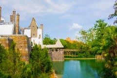 Orlando, Floryda, usa - Maj 09, 2018: Ogólnoludzki Hogwarts świat w universal studio w Orlando, Floryda, usa Obraz Royalty Free