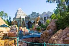 Orlando, Floryda, usa - Maj 09, 2018: Poseidon ` s wściekłość Wyspy przygoda universal Zdjęcie Royalty Free