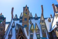 Orlando, Floryda, usa - Maj 09, 2018: Wizarding świat Harry Poter Obraz Stock