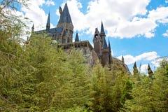 ORLANDO, LA FLORIDE 19 AVRIL 2016 : Château de Hogwarts, maison à Harry Potter et l'attraction interdite Orlando Etats-Unis de vo Images stock