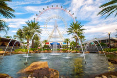Orlando and the largest observation wheel on the east coast. ORLANDO, FLORIDA, USA - JANUARY 06, 2017: The Orlando Eye is a 400 feet tall ferris wheel in the Royalty Free Stock Image
