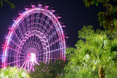 Orlando and the largest observation wheel on the east coast. ORLANDO, FLORIDA, USA - JANUARY 06, 2017: The Orlando Eye is a 400 feet tall ferris wheel in the Stock Photo