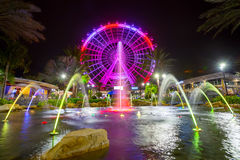 Orlando and the largest observation wheel on the east coast. ORLANDO, FLORIDA, USA - JANUARY 06, 2017: The Orlando Eye is a 400 feet tall ferris wheel in the Stock Photos