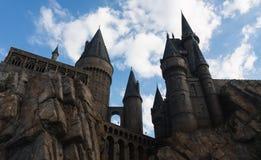 Orlando, los E.E.U.U. - 22 de junio de 2016 - el mundo de Wizarding de Harry Potter - castillo - estudios universales la Florida Foto de archivo libre de regalías
