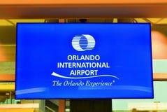 Orlando lotnisko międzynarodowe na kolorowym backround obraz stock