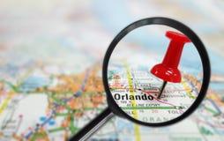 Orlando magnified stock photo