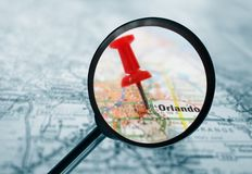 Orlando map Royalty Free Stock Photo