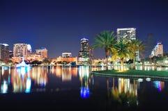 Orlando-Nachtszene Lizenzfreie Stockfotos