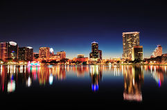 Orlando at night Royalty Free Stock Images