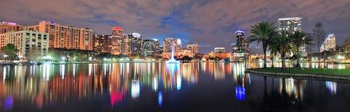 Orlando night panorama stock photo