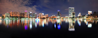 Orlando night panorama Stock Photos