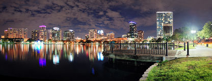 Orlando night panorama Royalty Free Stock Photos