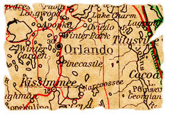 Orlando old map Stock Photo