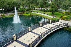 Orlando Orange County Convention Center trädgård Arkivfoto