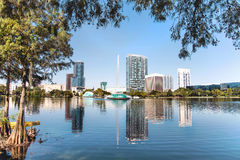 Orlando, Park Eola. View of Park Eola in downtown Orlando, Florida USA Stock Images