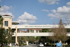 Orlando Premium Outlets. Is Central Florida's largest outdoor shopping center,located minutes Walt Disney World Resort and popular Orlando area stock photos