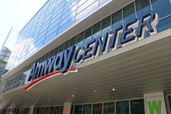 Orlando's Amway Center sign home of the Orlando Magic Stock Images