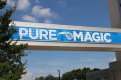 Orlando's Amway Center sign home of the Orlando Magic Royalty Free Stock Photos