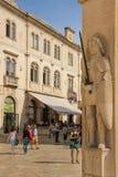 Orlando 's Column. Dubrovnik. Croatia Stock Photos