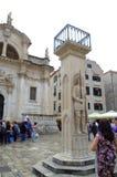 Orlando's Column,Dubrovnik Royalty Free Stock Images