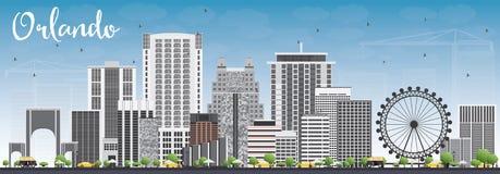 Orlando Skyline com Gray Buildings e o céu azul Imagens de Stock