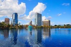 Orlando skyline fom lake Eola Florida US Royalty Free Stock Images