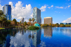 Orlando skyline fom lake Eola Florida US Royalty Free Stock Photography