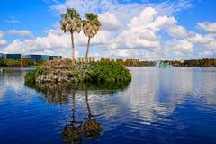 Orlando skyline fom lake Eola Florida US Royalty Free Stock Image