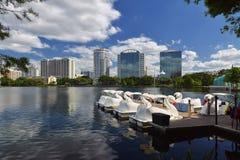 Orlando Skyline Lake Eola Royalty Free Stock Photos