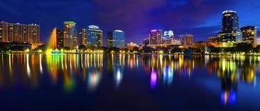 Orlando Skyline Lake Eola Royalty Free Stock Image