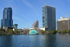 Orlando skyline Lake Eola Park Royalty Free Stock Images