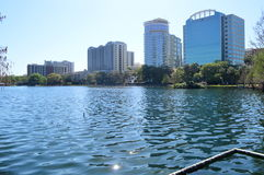 Orlando Skyline from Lake Eola Park Stock Image