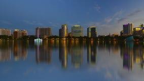 Orlando skyline, lake Eola Stock Photography