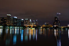 Orlando Skyline at night Stock Photos