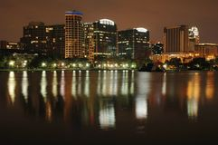 Orlando Skyline Reflection Stock Photography