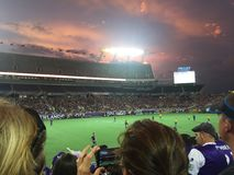 Orlando stadsfotboll Royaltyfri Foto