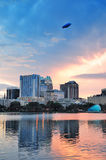 Orlando sunset over Lake Eola Stock Images