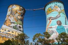 Orlando Towers en Soweto Imágenes de archivo libres de regalías
