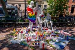 ORLANDO, U.S.A. - 5 MAGGIO 2017: Posto dove Omar Mateen, 49 persone uccise e ferito 53 altre in un odio di attacco terroristico Fotografia Stock