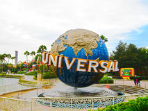 Orlando, USA - January 04, 2014: The famous Universal Globe at Universal Studios Florida theme park Royalty Free Stock Photo