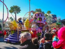 Orlando, USA - January 03, 2014: The people at carnival in the park. Universal Studios is one of Orlando`s famous theme. Parks. Universal in Orlando, Florida on Royalty Free Stock Photo